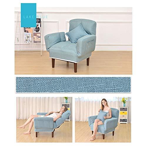 Sofa ligstoel doek eettafelstoel met voetenbankje ottoman voor woonkamer kantoor 5 kleuren modern hout Lounge Chair Free size coffee