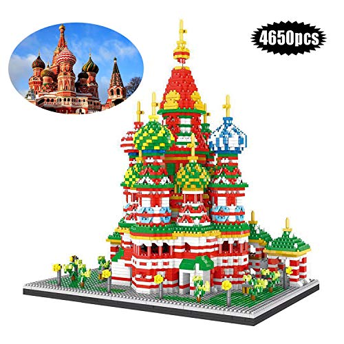 Nano-Mini Building Block 4650 Pcs Rusia Catedral De San Basilio DIY Juguetes Miniatura Diamantes Ladrillo Adecuado para Niños Modelo De Construcción Juego