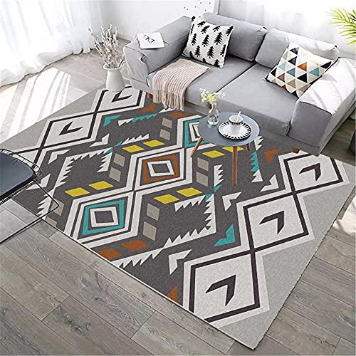 IRCATH Color Estilo étnico patrón geométrico Arte Moderno sofá Dormitorio Sala de Estar Dormitorio alojamiento alfombra-160x230cm Decoración del hogar para salón y Dormitorio