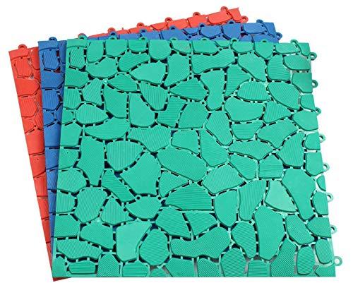 Vloerrooster douchemat in 3 kleuren sauna zwembad antislipmat badmat XXL rood