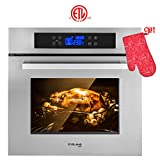 Single Wall Oven, GASLAND Chef ES611TS 24' Built-in Electric Wall Oven, 11...