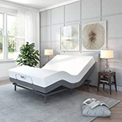 """53"""" W x 74"""" L x 15"""" H Enjoy lifestyle and health benefits with the Adjustable Comfort Adjustable Bed/Ergonomic Bed with programmable elevation positions, head and foot massage, USB ports, and wireless remote Whisper quiet adjustable bed base with sep..."""