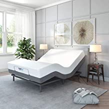 Classic Brands Comfort Upholstered Adjustable Bed Base with Massage, Wireless Remote, Three Leg Heights, and USB Ports-Ergonomic, Full