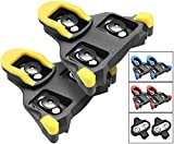NAACOO Bike Cleats Compatible with Shimano Speed-SL SH Cleats- Indoor Outdoor Peleton Spin Cycling Pedals Cleat & Road Bike Bicycle Clips Set-Self-Locking (Yellow- 6° Float)