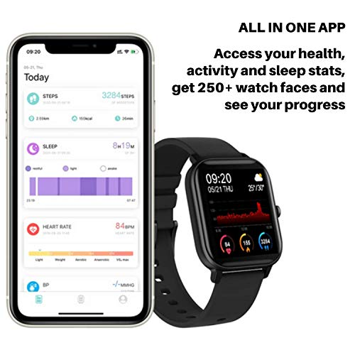 Fire-Boltt SPO2 Full Touch 1.4 inch Smart Watch 8 Days Battery Life Compatible with Android and iOS IPX7 with Heart Rate, BP, Fitness and Sports Tracking (Black)
