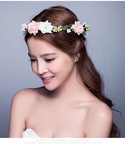 Aukmla - Bandeaux pour femme - Beauté - Mariage - Cheveux - Couronne de fleurs - Coiffe - Diadème - Plage - Vacances
