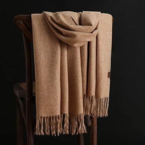 Alvnd Warmer einfarbiger Kaninchenfell-Schal Weicher luxuriöser Winter-Schal for Männer Frauen, 78,7 Zoll x 26,7 Zoll (Color : Colour 6, Size : 200CM)