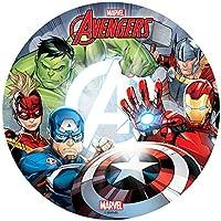 Dekora-114401 Decoracion Tartas de Cumpleaños Infantiles en Disco de Oblea The Avengers-20 cm (114401)