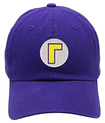 Waluigi Logo Embroidered Low Profile Soft Crown Unisex Baseball Dad Hat Purple