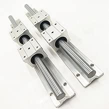 Ochoos Best Price! 2 pcs SBR12 200mm Linear Bearing Supported Rails+4 pcs SBR12UU Bearing Blocks for CNC