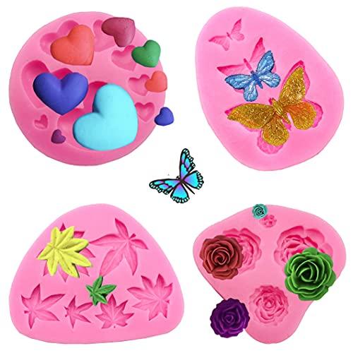 Flower Cake Fondant Molds,a forma di fiore in Silicone Molds,Stampi Zucchero Torte, Decorazione Torta al Cioccolato,Strumenti da Forno per fai da te