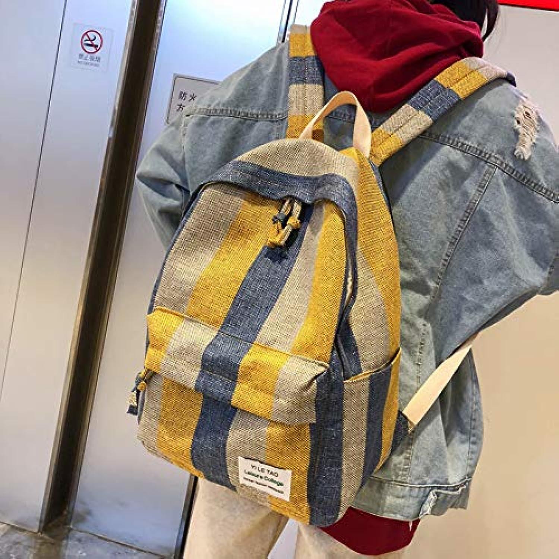 Rucksack Studentin Rucksack Umhngetasche Canvas vielseitige Rucksack Freizeittasche Breites Korn