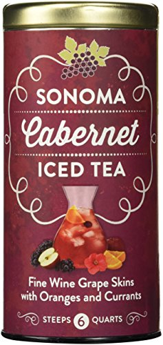 The Republic of Tea Sonoma Cabernet Iced Tea, 6 Large Iced Tea Pouches / 6 Quarts