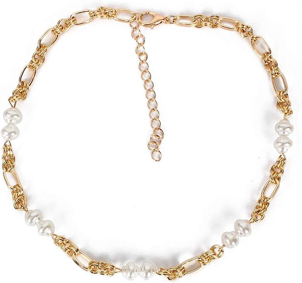 YAZILIND Fashion Imitation Pearl Collar Necklace Elegant Ladies Mom Short Clavicle Chain Wedding Jewelry