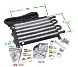 6 Pass Oil Cooler Kit, With Barbed Fittings, Compatible with Dune Buggy