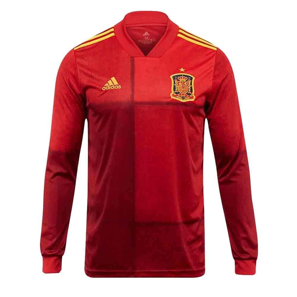 UKSoccershop Adidas 2020-2021 - Camiseta de fútbol de Manga Larga (Sergio Ramos 15), Hombre, Rojo, L 42-44