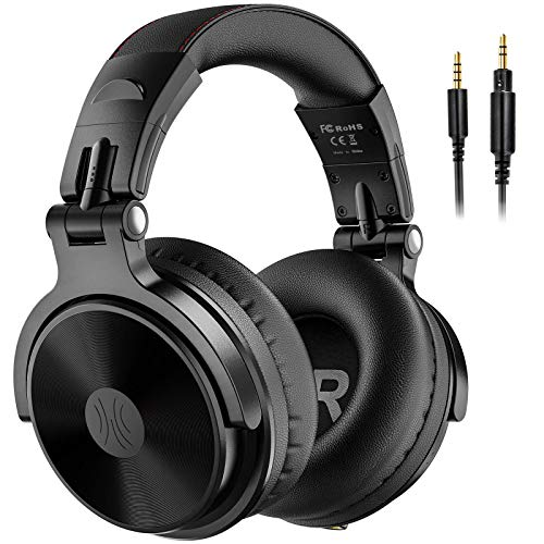OneOdio Bluetooth Over Ear Headphones - Wireless/Wired 110 Hrs Stereo Bluetooth Headsets Foldable Headset with Deep Bass 50mm Neodymium Drivers for PC/Phone - Studio Wireless(Y80B)