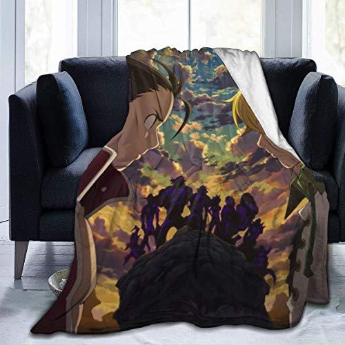 shenguang The Seven Deadly Sins Manta de Lana para sofá, Manta cálida y acogedora para niños y Adultos
