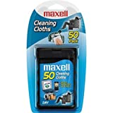 Maxell CD-305 CD Cleaning Cloths, 50 Pack