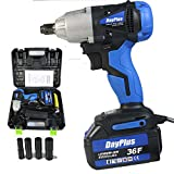 Cordless Impact Wrench 1/2 Inch Driver kit with 6000mAH Li-ion Battery 420Nm Max