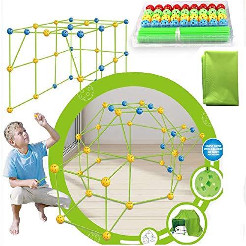 Kit De ConstruccióN De Fuertes De ConstruccióN para NiñOs, Carpa para NiñOs, Juego De ConstruccióN De Bricolaje, Juguetes Educativos De Aprendizaje De IngenieríA De Castillo para NiñOs Y NiñAs A
