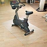 etm Tapis de Sol Appareil de Fitness | Tapis de Protection pour vélo elliptique, Home Trainer & rameur | Antiderapant & Anti-Bruit | Transparent | 300x120cm