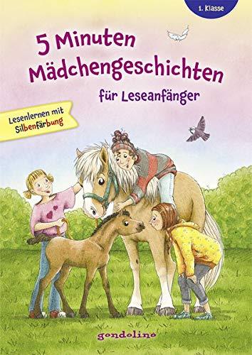 5 Minuten Mädchengeschichten für Leseanfänger mit Silbenfärbung ab 6 Jahre für die 1. Klasse.: Kurze Geschichten, große Fibelschrift und ... Bestseller Lesenlernen ab 6 Jahre für 5,00 €.