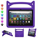 8 Plus Tablet Case,8 inch 2020 Case (10th Generation, 2020 Release)-Dinines Kid-Proof Case with Stand Handle for All-New 8 Plus/ 8 inch Tablet,Purple