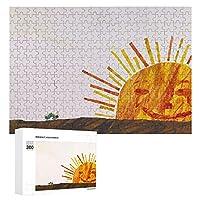 はらぺこあおむし Sun 300ピースジグソーパズル木製パズル 子供 グッズ 初心者向け ギフト 人気 減圧知育玩具大人 耐久性 高級印刷 無毒 無臭 無害 難易度調整可能 プレゼント