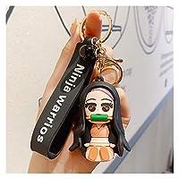 車キーホルダ 漫画キーチェーンかわいい人形キーチェーンクリエイティブカップルバッグペンダントカーレザーキーホルダーリング 生活雑貨 (Color : 13)