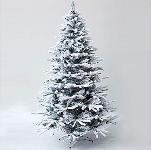 LYXMAS Flocking Christmas Tree Trees Snowy Flocked Christmas Trees Artificial Pine Tree Plastic Christmas Tree Fake Christmas Tree Pvc 1300 Branches Tree 3ft, 4ft, 5ft, 6ft, 7ft (Size : 0.9m)