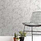 Fine Décor FD42274 Papier peint Motif marbre Blanc