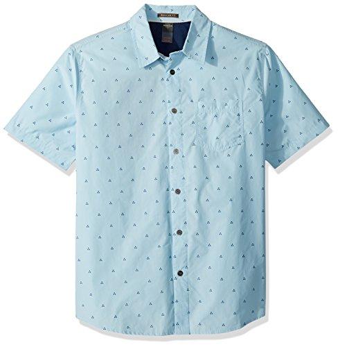 Quiksilver Herren Trailblazed Tribal Right Woven Top Hemd mit Button-Down-Kragen, Crystal Blue, Groß