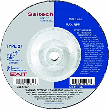 10-Pack United Abrasives//SAIT United Abrasives-SAIT 22289 Type 27 7-Inch by 1//8-Inch by 5//8-11-Inch Specialty Pipeline Cutting//Grinding Wheels