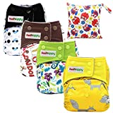 Asenappy aio Cloth Diapers one Size - All in One Shell-Snap Cloth Pocket