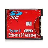 CY SD SDHC SDXC a CF adaptador de tarjeta de memoria flash compacto lector tipo I 16/32/64/128GB CF al convertidor de tarjeta SD