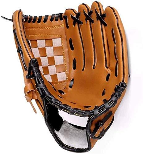 Tengcong Tech Guantes de béisbol Profesionales para atrapar Guante de béisbol Guantes de softbol para niños, Adolescentes, Adultos(marrón, 12.5)