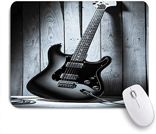 FOURFOOL Alfombrilla de Ratón,Vintage Guitarra eléctrica en un Escenario de Madera en un Club de Blues,Base de Goma Antideslizante Alfombrilla para PC y Portátil 240x200 mm