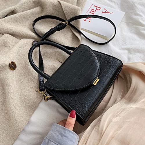 LOH Sacs à bandoulière en Cuir pour Femme Sac à bandoulière pour Femme Sacs à Main fourre-Tout, Noir, 19,5 cm x 15 cm x 9 cm