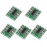 Fafeicy 5 piezas 3W + 3W Tipo D PAM8403 Amplificador de Potencia, Amplificador de audio digital 2.5V-5.5V