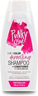 Punky Pinktabulous 3-in-1 Color Depositing Shampoo & Conditioner with Shea Butter and Pro Vitamin B that helps Nourish and Strengthen Hair, 8.5 oz