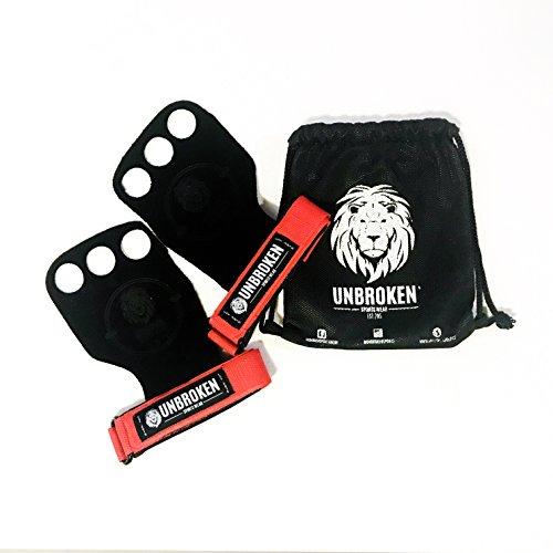 Unbroken Gymnastics Grips - Hand Wrist Lift Gloves compatible with...