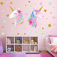 ❤【Perfect Gift for kids Girls】: Whether you are looking for your daughter's bedroom decoration ideas, Birthday gifts, Festival Gifts or just looking for girl wall decoration or merchandise, ,Your girls can put every part anywhere they want. This colo...