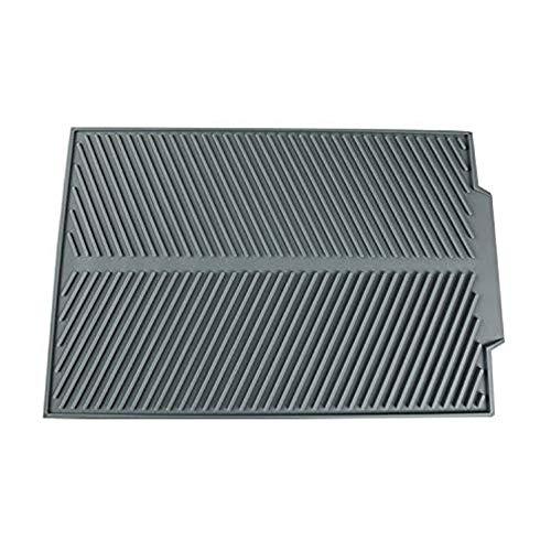 Traciya Alfombrilla de drenaje de silicona, 44 x 33 cm, alfombrilla de secado de platos para múltiples usos, alfombrilla de silicona fácil de limpiar y resistente al calor para cocina