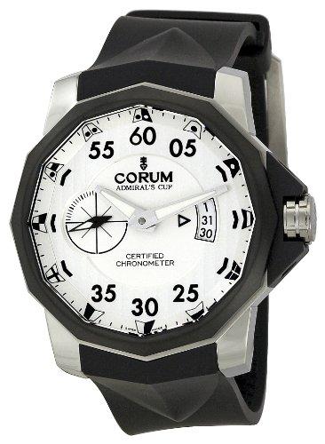 Corum Admiral's Cup Competition Limited Chronometer Herren-Armbanduhr mit schwarzem Kautschuk-Band Zifferblatt weiß 947.951.94/0371 AN14