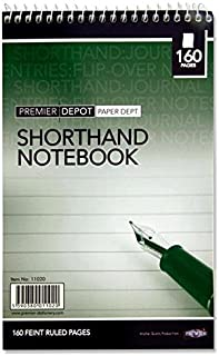 Premier Stationery Premier Depot 160 Pages Reporters Shorthand Notebook