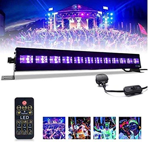 UV LED-Beleuchtung,MICTUNING 36W Bühnen Lichtleiste,UV Schwarzlicht für Party Disko Geburtstag Dekoration Karneval