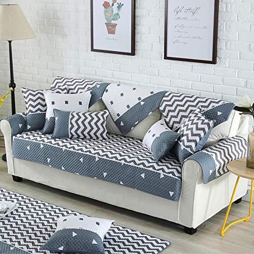 Homeen Cubre Sofas,Funda de sofá de algodón Suave Lounge,Funda de sofá de 2/3/4/5 plazas para sofá de Tela,Fundas Protectoras de sofá de impresión Antideslizante-UN Los 90 * 240cm