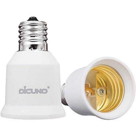 DiCUNO E17-E26口金変換アダプター 変換ソケット 熱に強い 2個セット
