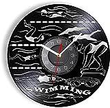 Reloj de pared de vinilo inspirado en la natación sincronizada...